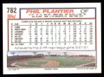 1992 Topps #782  Phil Plantier  Back Thumbnail