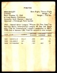 1963 Kahn's  Bob Bailey  Back Thumbnail