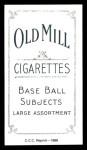 1909 T206 Reprint #132 BAT Mike Donlin  Back Thumbnail