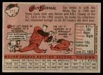 1958 Topps #112  Gus Zernial  Back Thumbnail