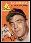 1954 Topps #26 WHT Ray Jablonski  Front Thumbnail