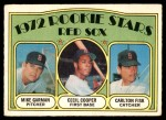1972 O-Pee-Chee #79   -  Carlton Fisk / Cecil Cooper / Mike Garman Red Sox Rookies Front Thumbnail