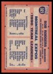 1991 Topps Desert Shield #321  Bob Rodgers  Back Thumbnail