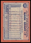 1991 Topps Desert Shield #287  Mark Grant  Back Thumbnail