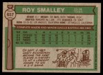 1976 Topps #657  Roy Smalley  Back Thumbnail