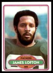 1980 Topps #78  James Lofton  Front Thumbnail