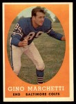 1958 Topps #16  Gino Marchetti  Front Thumbnail