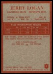 1965 Philadelphia #5  Jerry Logan   Back Thumbnail