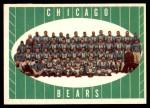 1961 Topps #18   Bears Team Front Thumbnail