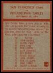 1965 Philadelphia #182   -  Jack Christiansen San Francisco 49ers Back Thumbnail