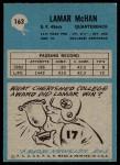 1964 Philadelphia #163  Lamar McHan  Back Thumbnail