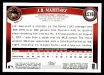 2011 Topps Update #186  J.D. Martinez  Back Thumbnail