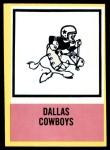 1967 Philadelphia #60   Dallas Cowboys Logo Front Thumbnail