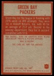 1965 Philadelphia #71   Packers Team Back Thumbnail