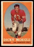1958 Topps #124  Dick Moegle  Front Thumbnail