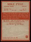 1965 Philadelphia #24  Mike Pyle  Back Thumbnail