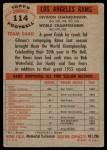 1956 Topps #114   Rams Team Back Thumbnail