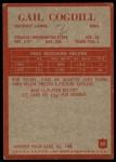 1965 Philadelphia #60  Gail Cogdill    Back Thumbnail
