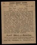1939 Play Ball #3  Red Ruffing  Back Thumbnail