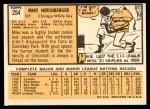 1963 Topps #254  Mike Hershberger  Back Thumbnail
