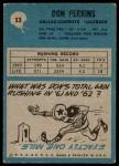 1964 Philadelphia #53  Don Perkins     Back Thumbnail