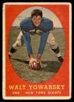 1958 Topps #101  Walt Yowarsky  Front Thumbnail
