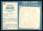 1961 Topps CFL #37  Rollie Miles  Back Thumbnail