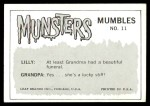 1964 Leaf Munsters #11   I Can't Understand It Back Thumbnail