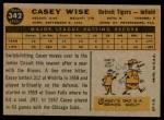 1960 Topps #342  Casey Wise  Back Thumbnail