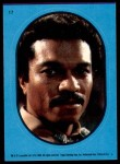 1983 Topps Star Wars Return of the Jedi Stickers #17  Lando Calrissian  Front Thumbnail