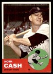 1963 Topps #445  Norm Cash  Front Thumbnail