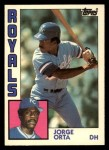 1984 Topps Traded #88  Jorge Orta  Front Thumbnail