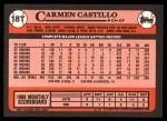 1989 Topps Traded #18 T Carmen Castillo  Back Thumbnail