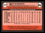1989 Topps Traded #103 T Bip Roberts  Back Thumbnail
