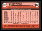 1989 Topps Traded #124 T Gary Ward  Back Thumbnail