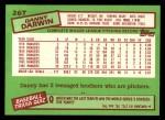 1985 Topps Traded #26 T Danny Darwin  Back Thumbnail