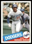 1985 Topps Traded #32 T Mariano Duncan  Front Thumbnail