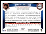 2011 Topps Update #22  Randall Delgado  Back Thumbnail