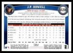 2011 Topps Update #206  J.P. Howell  Back Thumbnail