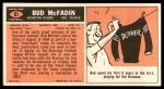 1965 Topps #81  Bud McFadin  Back Thumbnail