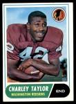 1968 Topps #192  Charley Taylor  Front Thumbnail