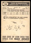 1959 Topps #59  Don Burroughs  Back Thumbnail