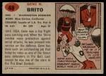 1957 Topps #48  Gene Brito  Back Thumbnail