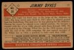 1953 Bowman #31  Jimmy Dykes  Back Thumbnail