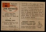 1954 Bowman #80  John Martinkovic  Back Thumbnail