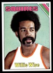 1975 Topps #255  Willie Wise  Front Thumbnail