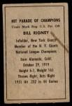 1952 Berk Ross  Bill Rigney  Back Thumbnail