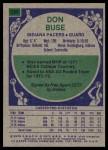 1975 Topps #299  Don Buse  Back Thumbnail