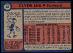 1974 Topps #32  Clyde Lee  Back Thumbnail