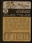1973 Topps #53  Steve Dunning  Back Thumbnail